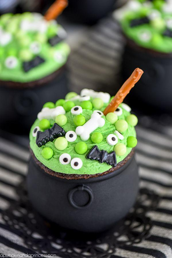 """<p>This cupcake masterpiece is giving us some major <em>Hocus Pocus </em>vibes. Double, double, toil and trouble... </p><p><em><a href=""""https://apumpkinandaprincess.com/cauldron-cupcakes/"""" rel=""""nofollow noopener"""" target=""""_blank"""" data-ylk=""""slk:Get the recipe at A Pumpkin and a Princess »"""" class=""""link rapid-noclick-resp"""">Get the recipe at A Pumpkin and a Princess »</a></em></p><p><strong>RELATED: </strong><a href=""""https://www.goodhousekeeping.com/holidays/halloween-ideas/g2661/halloween-movies/"""" rel=""""nofollow noopener"""" target=""""_blank"""" data-ylk=""""slk:46 Halloween Movies for Kids That Won't Scare the Daylights Out of Them"""" class=""""link rapid-noclick-resp"""">46 Halloween Movies for Kids That Won't Scare the Daylights Out of Them</a></p>"""