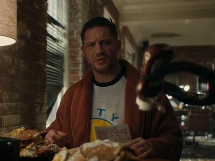 """<p>YES. The sequel to 2018's <em>Venom</em>—which is one of the greatest modern day camp classics—will finally drop this year. And based on <a href=""""https://www.youtube.com/watch?v=-ezfi6FQ8Ds&ab_channel=SonyPicturesEntertainment"""" rel=""""nofollow noopener"""" target=""""_blank"""" data-ylk=""""slk:the first trailer"""" class=""""link rapid-noclick-resp"""">the first trailer</a>, it seems like everything great about the original is ramped all the way up to 11. They seem to realize that the over-the-top campiness worked best, and our friend Tom Hardy gets to go all-in on the insanity and absurdity at play here. Woody Harrelson will continue his credits scene role as serial killer Cletus Kassidy, who eventually becomes the psychopathic symbiote creature Carnage. It's hard to decipher where things really go from here, but we can only hope for Hardy to once again find his way into a lobster tank (or an equivalent vessel). </p>"""