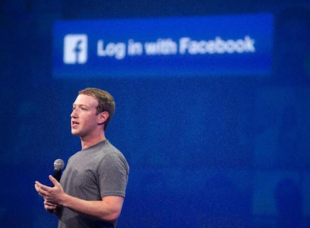 Facebook's legal troubles could be the beginnings of the next dot-com collapse, economists and fund managers say. PHOTO: Facebook CEO Mark Zuckerberg speaks. (AFP Photo/Josh Edelson)