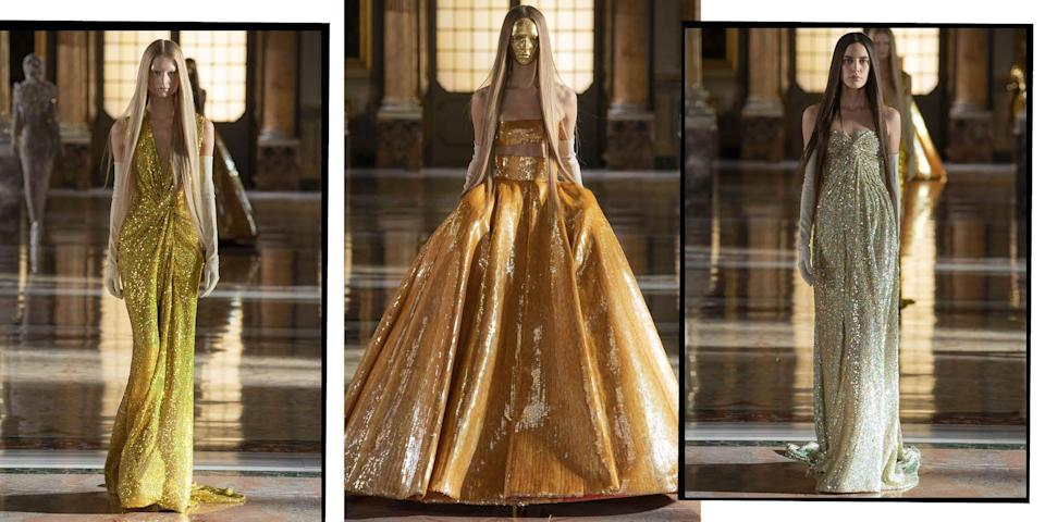 <p>Frothy, feathered, frilly and totally fantastical, we pick the most breathtaking gowns from the latest round of Haute Couture collections that historic fashion houses such as Dior, Balmain, and Schiaparelli have had to innovate in order to show under lockdown.</p><p>From Dolce and Gabbana and Chanel to Iris Van Herpen and Ralph & Russo, these are the dreamiest dresses to grace our screens during the SS21 Haute Couture fashion week season.</p>