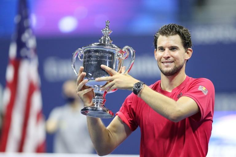 Champion: Dominic Thiem with the US Open trophy in 2020