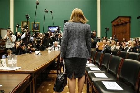 General Motors CEO Mary Barra arrives to testify before the House Energy and Commerce Committee hearing on Capitol Hill in Washington April 1, 2014. REUTERS/Jonathan Ernst