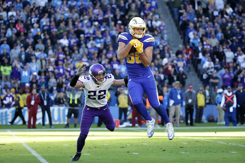 Hunter Henry got the franchise tag from the Chargers. (Photo by Jeff Gross/Getty Images)
