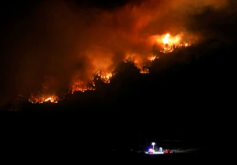 FILE PHOTO: Cameron Peak Fire burns outside Estes Park