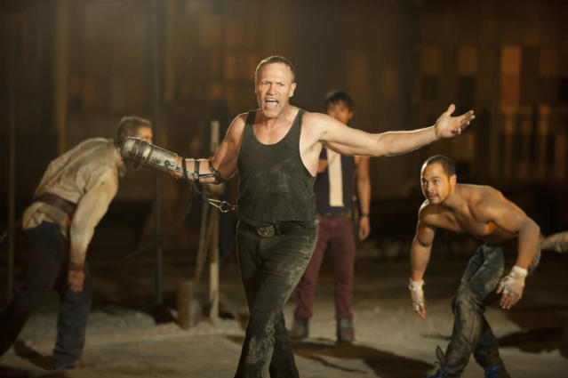 "Merle Dixon (Michael Rooker) and Martinez (Jose Pablo Cantillo) in ""The Walking Dead"" episode, ""Say the Word."""