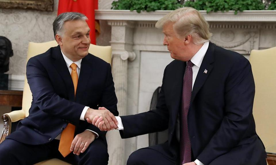 Viktor Orbán and Donald Trump at the White House in May 2019