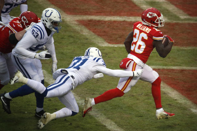 Damien Williams is running wild at the right time for the Chiefs. (AP)