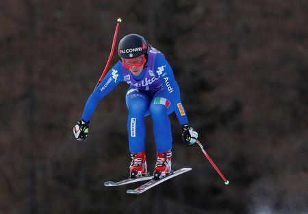 Skiing - Alpine Skiing World Cup - Women's Downhill - Cortina d'Ampezzo, Italy - January 19, 2018. Sofia Goggia of Italy in action. REUTERS/Stefano Rellandini