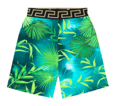 Versace Kids printed cotton shorts, S$216 (was S$309), 30% off. PHOTO: Mytheresa