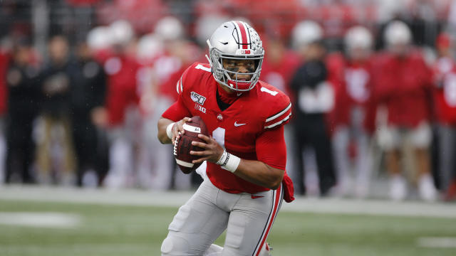 Ohio State quarterback Justin Fields and the Buckeyes are at No. 1 in the first rankings. (AP Photo/Jay LaPrete)