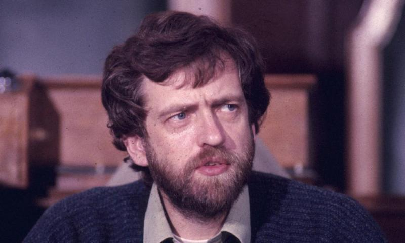 Jeremy Corbyn, who said he would take legal action if the tweet wasn't deleted, pictured in 1988.