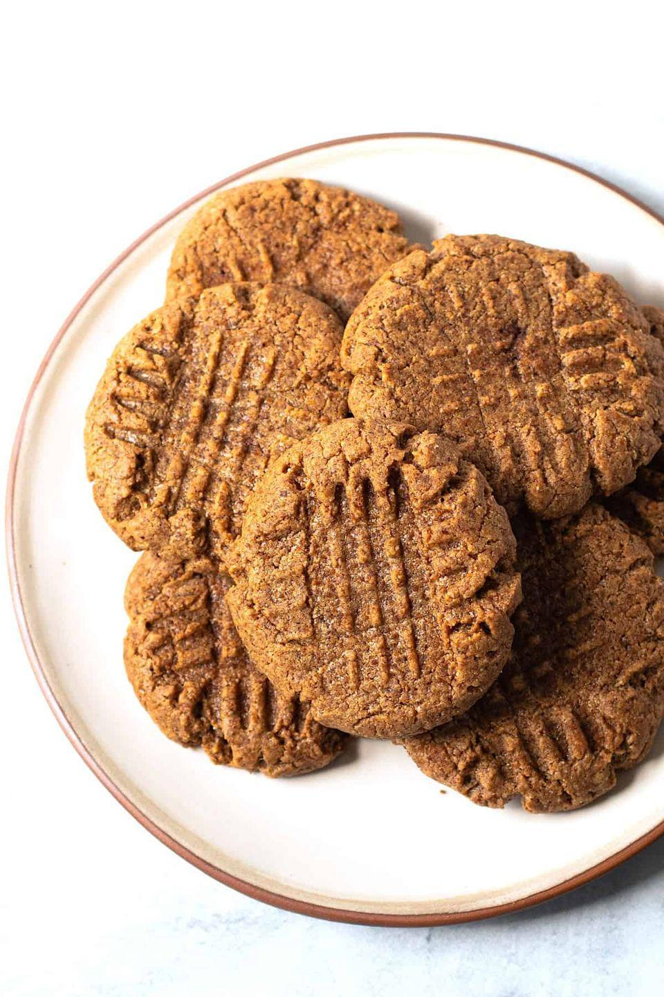 """<p>This one-bowl recipe will satisfy your cookie cravings without the hard work. You can swap in any nut (or seed) butter you like. </p><p><strong>Get the recipe at <a href=""""https://lexiscleankitchen.com/3-ingredient-almond-butter-cookies/"""" rel=""""nofollow noopener"""" target=""""_blank"""" data-ylk=""""slk:Lexi's Clean Kitchen"""" class=""""link rapid-noclick-resp"""">Lexi's Clean Kitchen</a>.</strong></p>"""