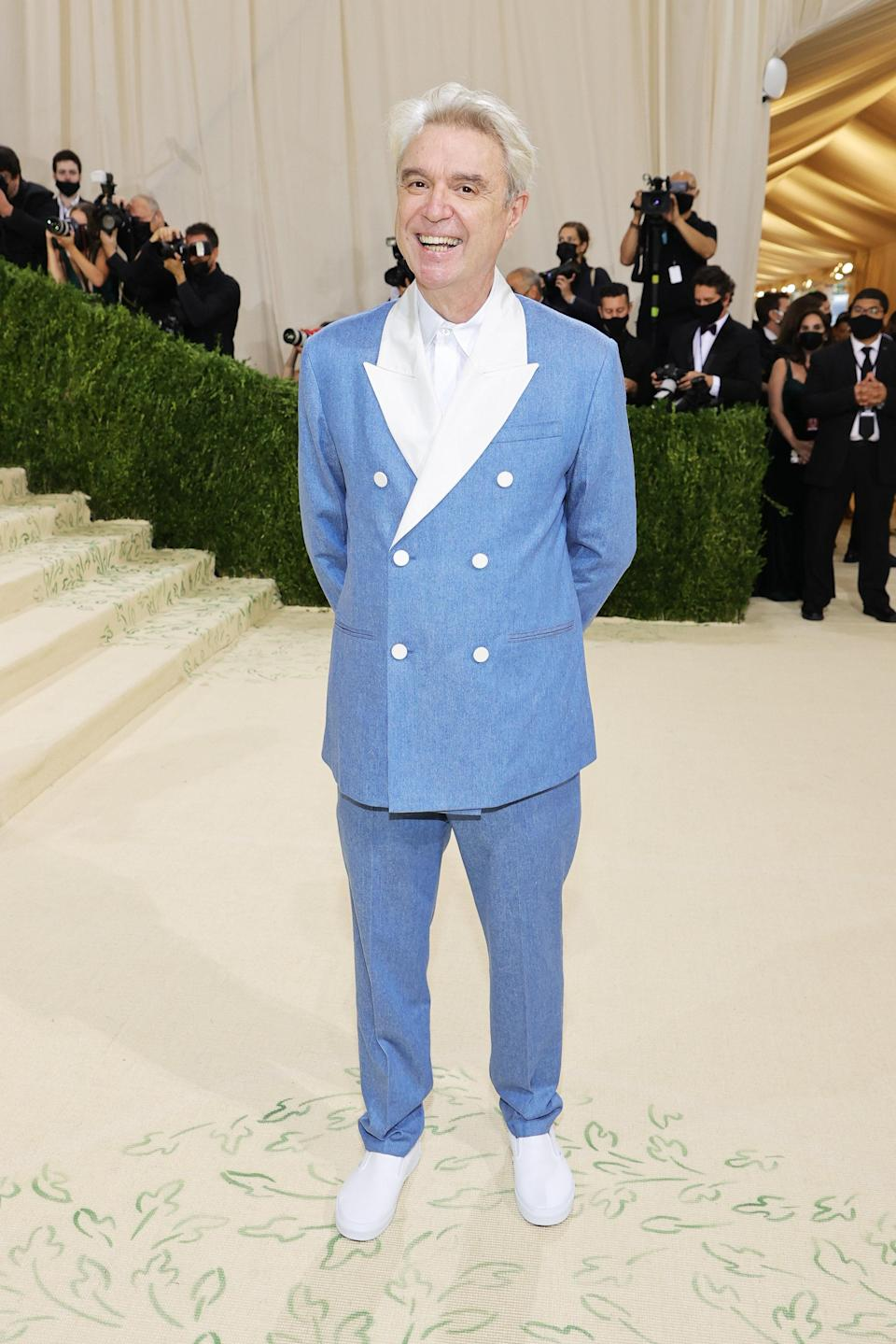 """<h1 class=""""title"""">David Byrne, The 2021 Met Gala Celebrating In America: A Lexicon Of Fashion - Arrivals</h1><cite class=""""credit"""">Getty</cite>"""