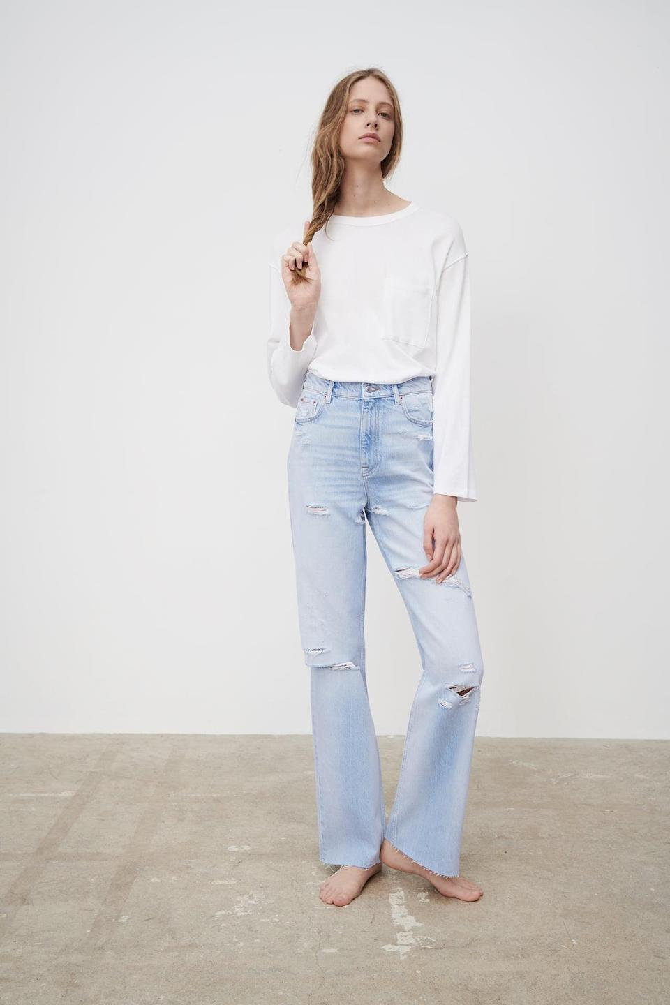 <p>These <span>Zara ZW The '90S Full Length Jeans</span> ($50) look so cool and comfortable.</p>