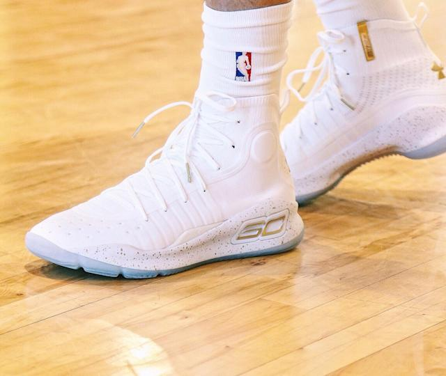 Under Armour's Curry 4 isn't expected to be available until the fall. (Nick DePaula)