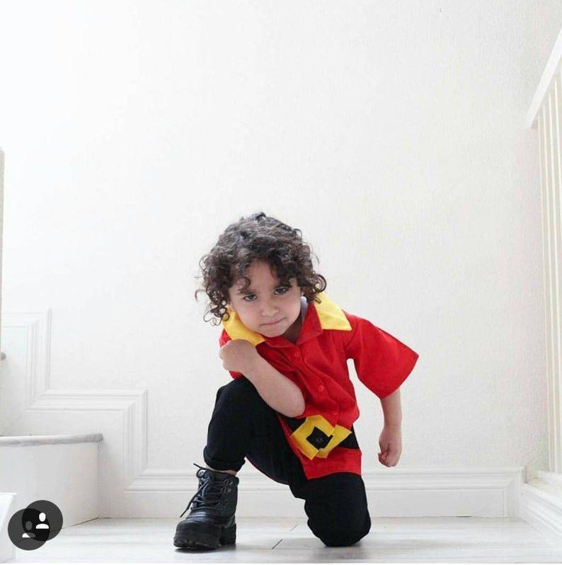 """<p><strong>LoopsyBaby</strong></p><p>etsy.com</p><p><strong>$30.00</strong></p><p><a href=""""https://go.redirectingat.com?id=74968X1596630&url=https%3A%2F%2Fwww.etsy.com%2Flisting%2F197819594%2Ftoddler-gaston-costume-set-gaston&sref=https%3A%2F%2Fwww.womansday.com%2Fstyle%2Fg22583902%2Fboys-halloween-costumes%2F"""" rel=""""nofollow noopener"""" target=""""_blank"""" data-ylk=""""slk:Shop Now"""" class=""""link rapid-noclick-resp"""">Shop Now</a></p><p>Sure, everyone wants to go as the Disney heroes, but your boy can stand out from the pack by going as a Disney villain. Pair this Gaston top for toddlers with black pants and boots — easy!</p>"""