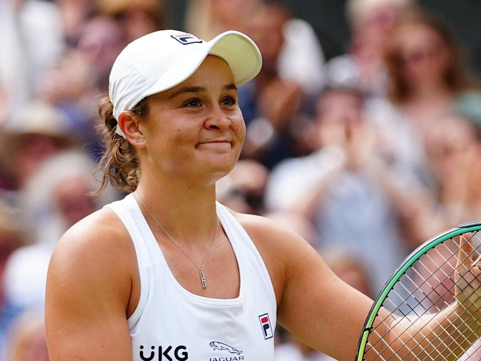 Barty celebrates her win over Kerber (Getty)
