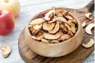 <p>Tired of fresh fruit just sitting in the fridge? Fruit crisps are a shelf-stable option that can help you meet your produce quota. <strong>Look for dehydrated or air-dried fruit crisps with no added sugar. </strong>Eat as a snack on their own or add to trail-mix for a fiber boost.</p>