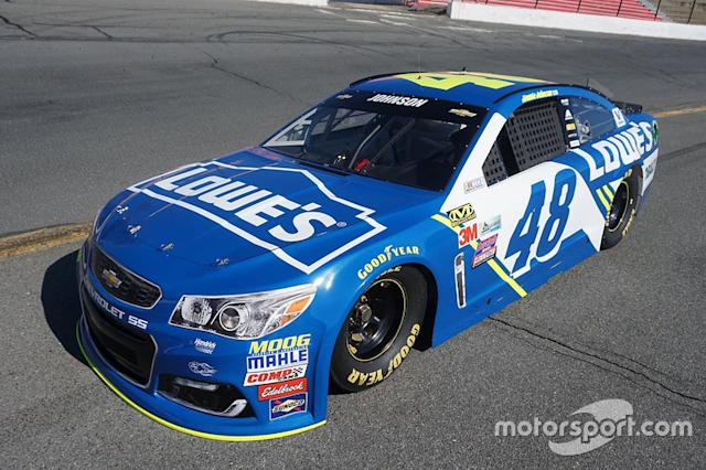 "2016: Jimmie Johnson, Hendrick Motorsports Chevrolet <span class=""copyright"">Team Lowes Racing</span>"