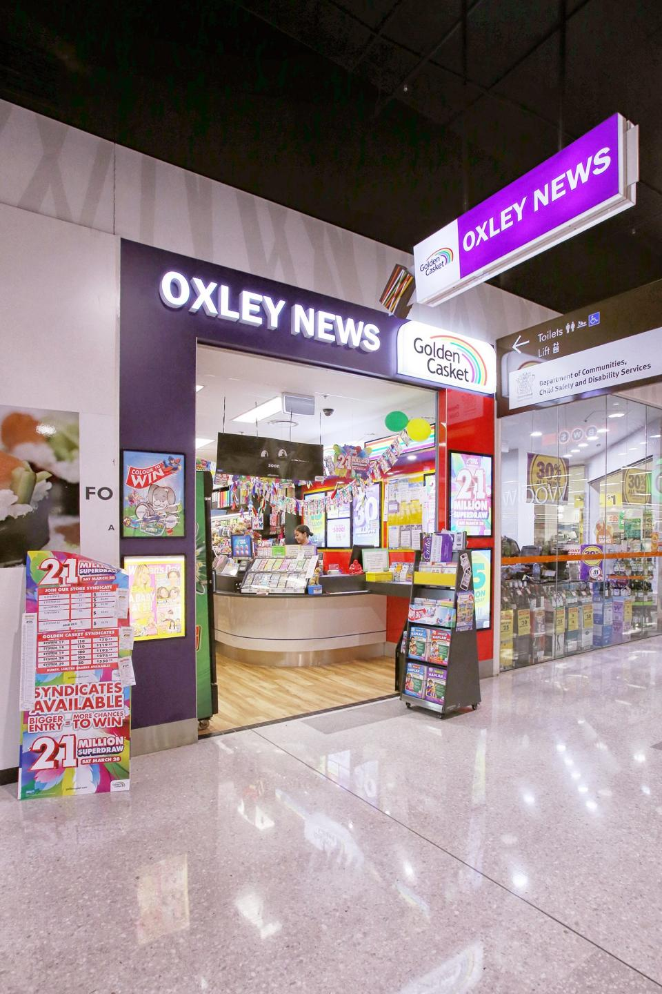 The owner of Oxley News was very excited the winning ticket was purchased at his store. Source: Oxley News/Facebook