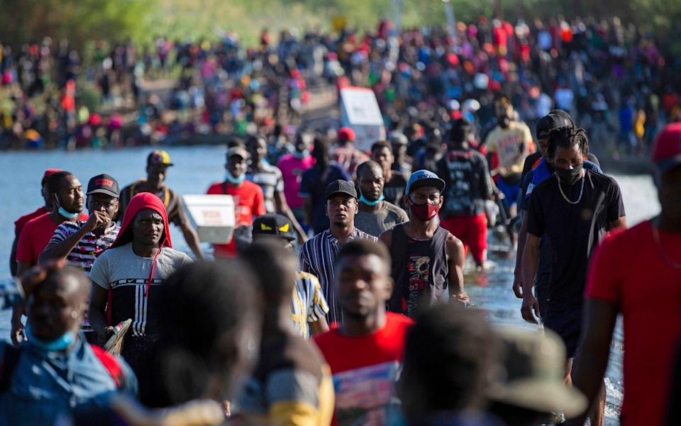 Thousands of Haitian migrants are waiting to enter the US - Houston Chronicle