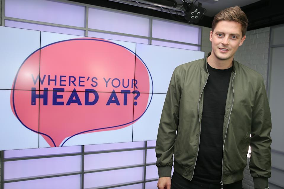 """LONDON, ENGLAND - MAY 07: Dr Alex George visits """"Where's Your Head At?"""" Bauer Media's campaign to ensure mental and physical health are given equal treatment in the workplace at Heat Radio on May 07, 2019 in London, England. (Photo by Ian Lawrence X/Getty Images)"""