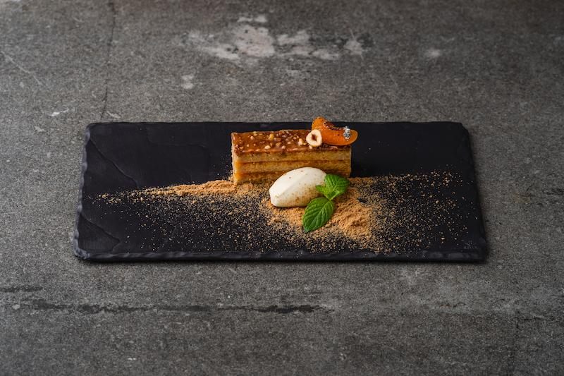 Hazelnut and apricot gateau. Photo: The Knolls