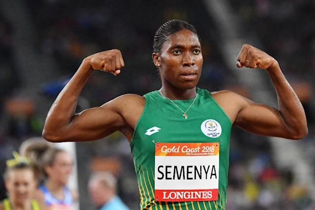 South Africa's Caster Semenya has long been a controversial figure in athletics because of her powerful physique and high testosterone levels (AFP Photo/SAEED KHAN)