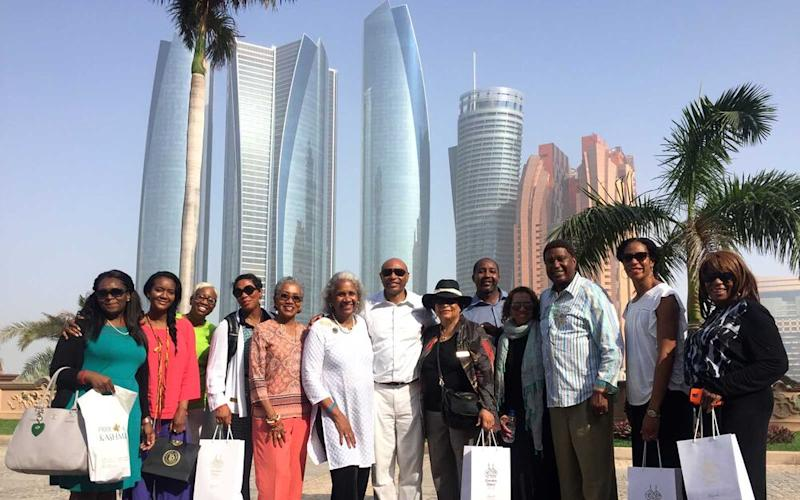 Gaynelle Henderson and members of a large professional association that she took to Abu Dhabi, Dubai and India. | Courtesy of Gaynelle Henderson