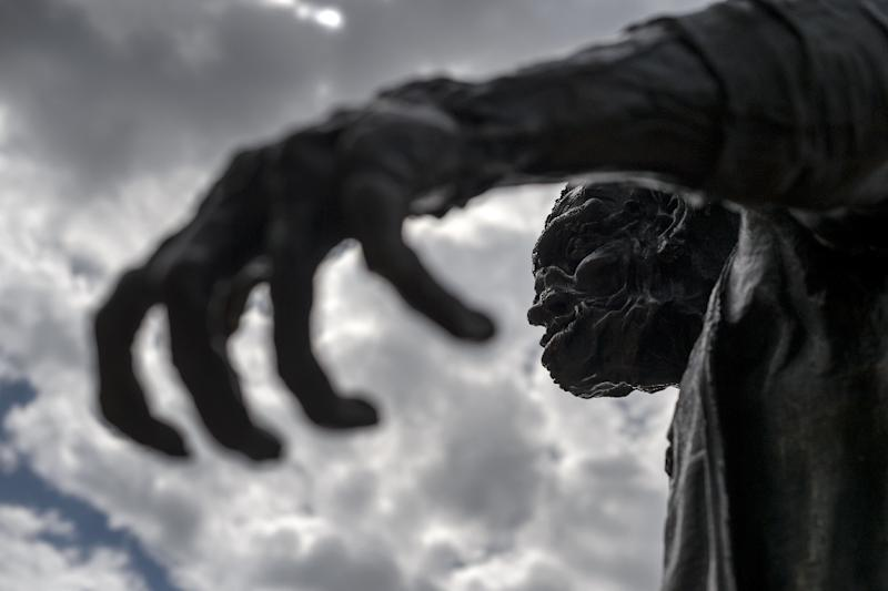 A statue of Frankenstein's monster in Geneva (AFP Photo/Fabrice Coffrini)