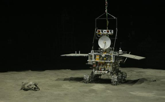 China's Yutu moon rover, part of the Chang'e 3 lunar landing mission launching in December 2013.