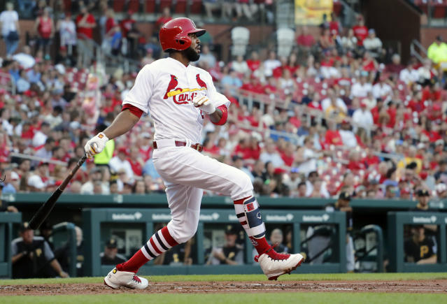 "<a class=""link rapid-noclick-resp"" href=""/mlb/players/8370/"" data-ylk=""slk:Dexter Fowler"">Dexter Fowler</a> has been in an offensive funk for all of 2018 (AP)"