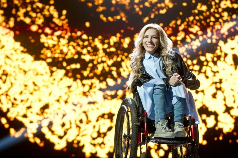 Russian singer Yuliya Samoilova is in a wheelchair since a bad reaction to a vaccine in childhood