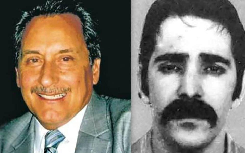 Retired Officer Daril Cinquanta and the fugitive Luis Archuleta, also known as Lawrence Pusateri - Denver Police Department/FBI