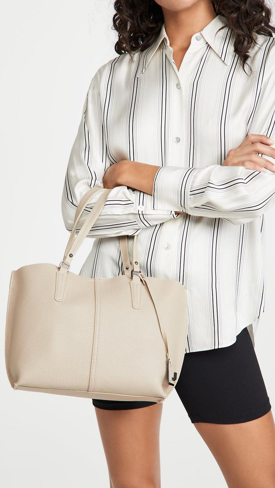 <p>The size of this <span>Botkier Hudson Bite Size Tote</span> ($228) is great if you want something smaller.</p>