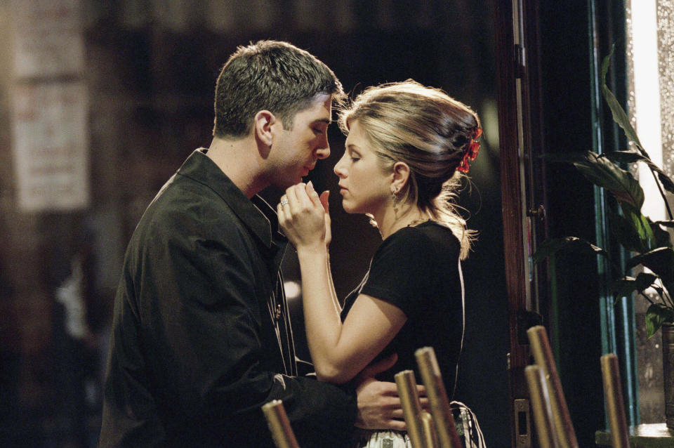 Ross and Rachel are one of the most iconic TV couples ever. Photo: Getty Images
