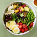 <p>This vegetarian take on a traditional Niçoise salad omits the fish and piles on plenty of vegetables.</p>