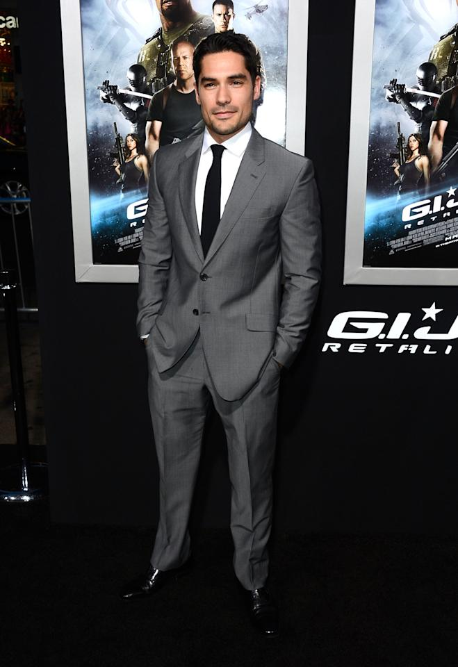"HOLLYWOOD, CA - MARCH 28:  Actor D.J. Cotrona arrives at the premiere of Paramount Pictures' ""G.I. Joe: Retaliation"" at TCL Chinese Theatre on March 28, 2013 in Hollywood, California.  (Photo by Frazer Harrison/Getty Images)"