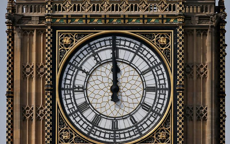 One of the four faces of the Great Clock - AFP