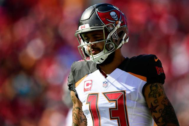 Will Baltimore shut down the hopes of Mike Evans' fantasy owners in a crucial week? (Photo by Julio Aguilar/Getty Images)