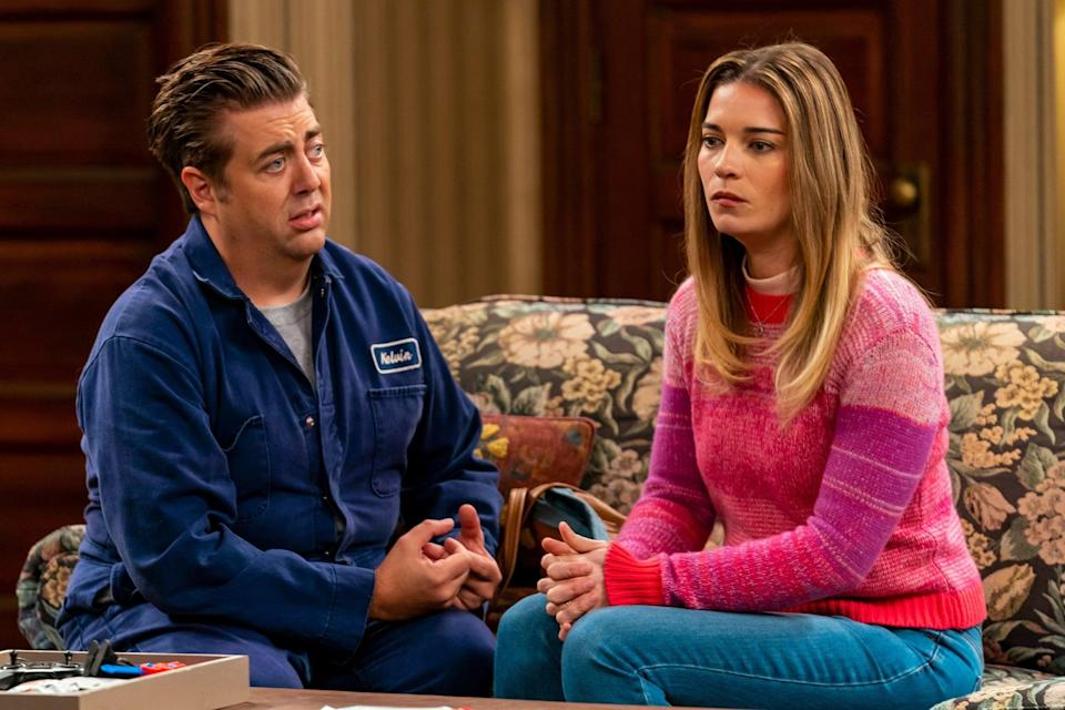 """<ul> <li><strong>What to wear for Allison:</strong> Allison wears a lot of jeans and boots paired with brightly colored chunky sweaters and puffer coats, but you could also don her olive green utility jacket. </li> <li><strong>What to wear for Kevin:</strong> Kevin is most easily recognized in his blue work jumpsuit complete with """"Kelvin"""" name tag. Don't forget to spike up your hair and act like you're the center of the universe!</li> </ul>"""