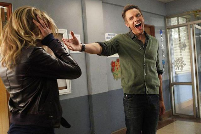 Joel McHale as Jeff Winger in <em>Community</em>. (Photo: Jordin Althaus/NBC)