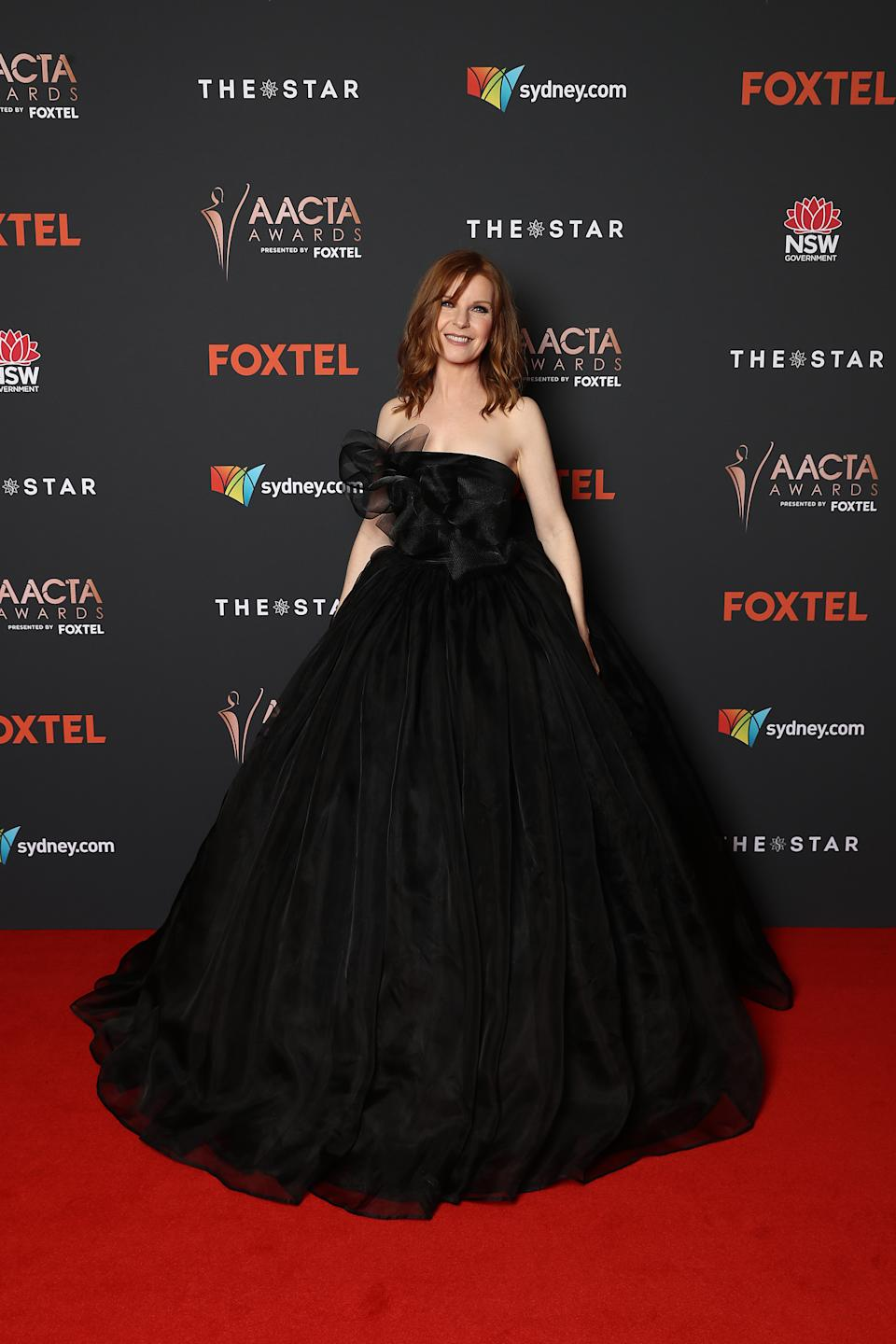 Jacqueline McKenzie arrives ahead of the 2020 AACTA Awards presented by Foxtel at The Star on November 30, 2020 in Sydney, Australia.