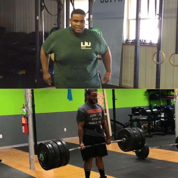 PHOTO: Before and after photo of Romar Lyle on his weight loss journey. (Courtesy Romar Lyle)