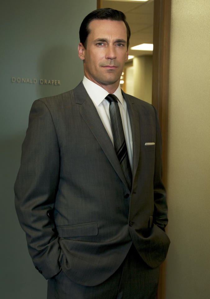 "<b>Jon Hamm</b> as Don Draper, ""Mad Men"" (2007-present)<br><br>Outstanding Lead Actor in a Drama Series<br><br>0 wins, 5 consecutive nominations (2007-2012)<br><br>* Hamm could win (on his fifth nomination) when the 64th Primetime Emmy Awards are handed out on Sunday, September 23, 2012."
