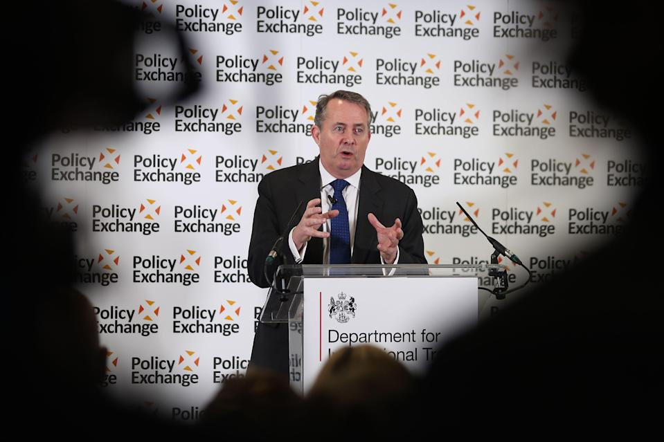 Britain's international trade secretary Liam Fox is considering the possibility of scrapping all UK tariffs. Photo: Daniel Leal-Olivas/Getty Images