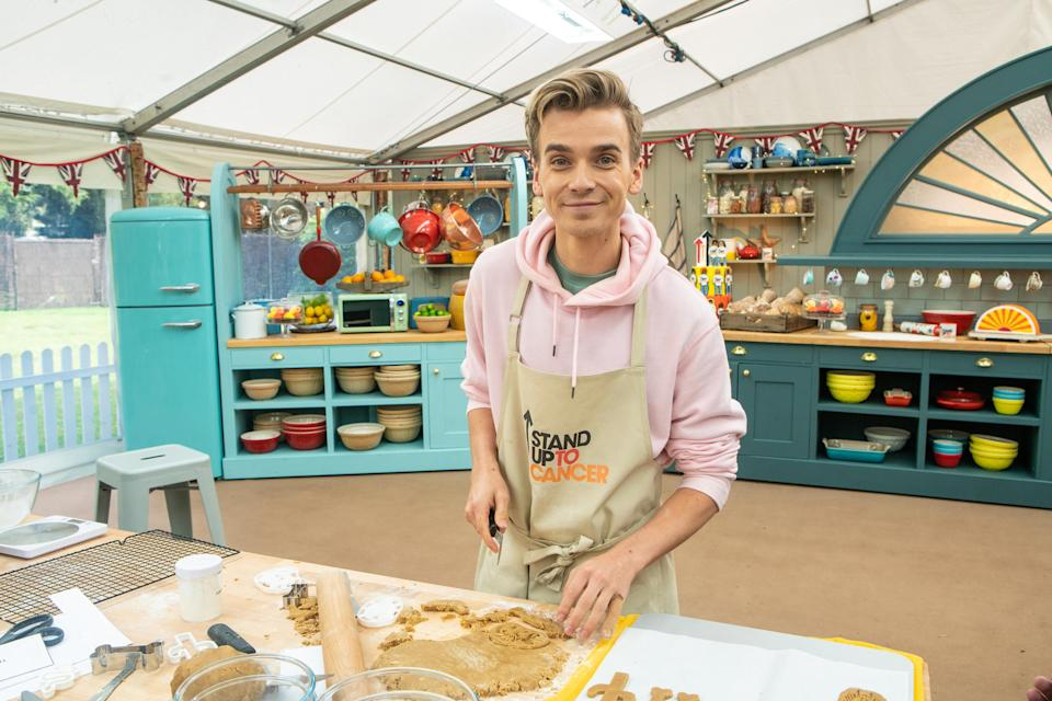 Joe Sugg had a bumpy start on 'The Great Stand Up To Cancer Bake Off.'  (Mark Bourdillon/Channel 4)