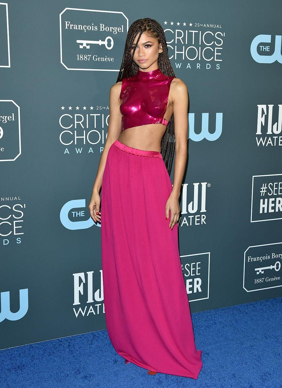 <p>The actress and singer attended the Critics' Choice Awards wearing Tom Ford from head to toe.</p>