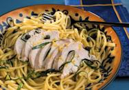 "<p>Chicken, lemon, capers and white wine is an iconic combination perfect for <a href=""https://www.thedailymeal.com/cook/4-ingredient-entree-dinner-recipes?referrer=yahoo&category=beauty_food&include_utm=1&utm_medium=referral&utm_source=yahoo&utm_campaign=feed"" rel=""nofollow noopener"" target=""_blank"" data-ylk=""slk:easy weeknight dinners"" class=""link rapid-noclick-resp"">easy weeknight dinners</a>. Serve over <a href=""https://www.thedailymeal.com/cook/ultimate-guide-pasta-shapes-gallery?referrer=yahoo&category=beauty_food&include_utm=1&utm_medium=referral&utm_source=yahoo&utm_campaign=feed"" rel=""nofollow noopener"" target=""_blank"" data-ylk=""slk:perfectly cooked linguine"" class=""link rapid-noclick-resp"">perfectly cooked linguine</a> for a satisfying meal.</p> <p><a href=""https://www.thedailymeal.com/best-recipes/linguine-with-lemony-chicken?referrer=yahoo&category=beauty_food&include_utm=1&utm_medium=referral&utm_source=yahoo&utm_campaign=feed"" rel=""nofollow noopener"" target=""_blank"" data-ylk=""slk:For the Linguine with Lemony Chicken recipe, click here."" class=""link rapid-noclick-resp"">For the Linguine with Lemony Chicken recipe, click here.</a></p>"
