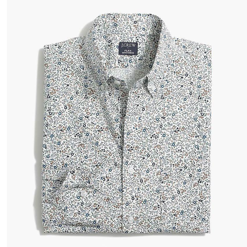"<p><strong>J.Crew Factory</strong></p><p>factory.jcrew.com</p><p><strong>$24.50</strong></p><p><a href=""https://go.redirectingat.com?id=74968X1596630&url=https%3A%2F%2Ffactory.jcrew.com%2Fp%2Fmens_clothing%2Fnew_arrivals%2Fshirts%2Ffloral-slim-flex-casual-shirt%2FAL064&sref=https%3A%2F%2Fwww.esquire.com%2Fstyle%2Fmens-fashion%2Fg35650917%2Fj-crew-factory-sale-february-2021%2F"" rel=""nofollow noopener"" target=""_blank"" data-ylk=""slk:Buy"" class=""link rapid-noclick-resp"">Buy</a></p>"